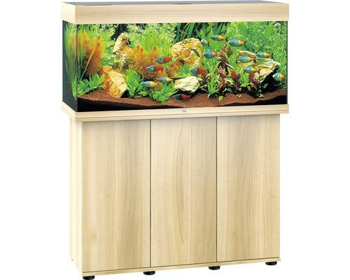 Kit complet d''aquarium Juwel Rio 180 LED SBX avec sous-meuble bois clair