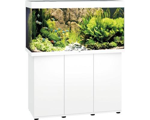 Kit complet d''aquarium Juwel Rio 350 LED SBX avec sous-meuble blanc