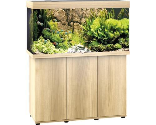 Kit complet d''aquarium Juwel Rio 350 LED SBX avec sous-meuble bois clair