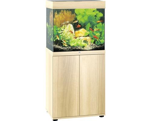 Kit complet d''aquarium Juwel Lido 120 LED SBX bois clair
