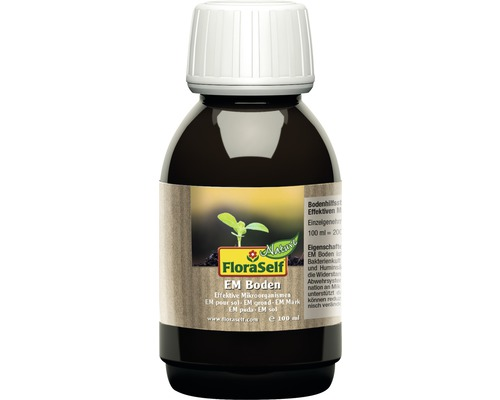 Produit de renforcement des plantes FloraSelf Nature microorganismes efficaces EM Boden 100ml