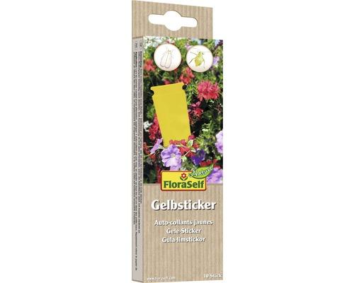 Autocollants jaunes contre les parasites FloraSelf Nature 10 pièces