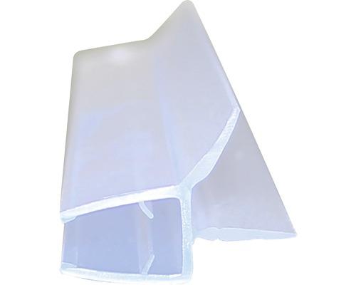 Profilé d''évacuation de l''eau adapté pour verre de 5-6mm longueur de 2010 mm avec 2 lèvres d''étanchéité
