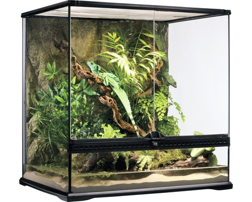 Terrarium, Paludarium Exo Terra avec paroi arrière en pierre naturelle 60 x 45 x 60 cm-0