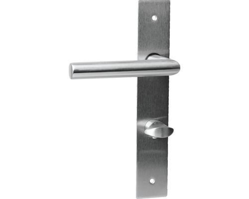 Plaque longue garniture design Piatto WC acier inoxydable