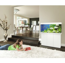 Aquarium JUWEL Rio 180 avec éclairage à LED, pompe, filtre, chauffage sans meuble bas blanc-thumb-3