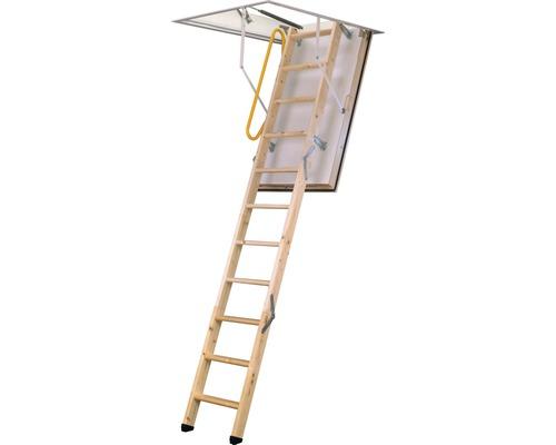 Escalier escamotable Menos épicéa haute isolation avec cadre métallique 120x60cm