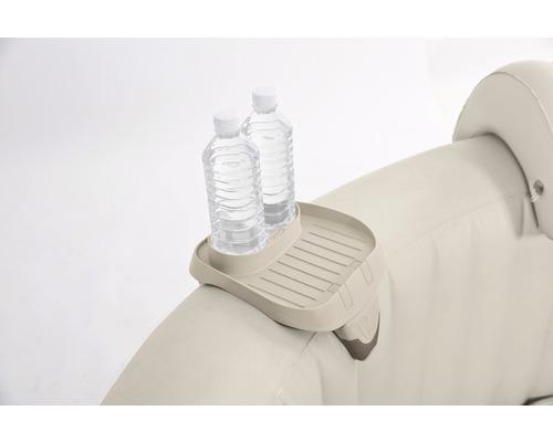 Ablagefläche Intex für aufblasbaren Whirlpool Intex Pure Spa beige mit Getränkehalter