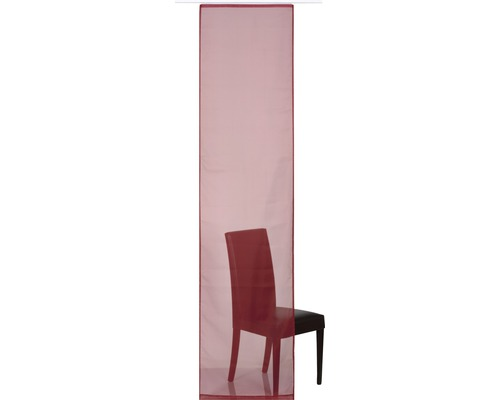 Schiebegardine Feel Good Uni rot 60x245 cm
