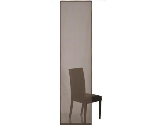 Schiebegardine Feel Good Uni braun 60x245 cm