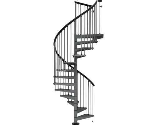 Escalier colimaçon Pertura Alecia Ø 120 cm 12pas de marche galvanisé gris fonte