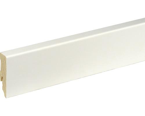 Plinthe SF253L blanc plaxé 16x58x2500 mm