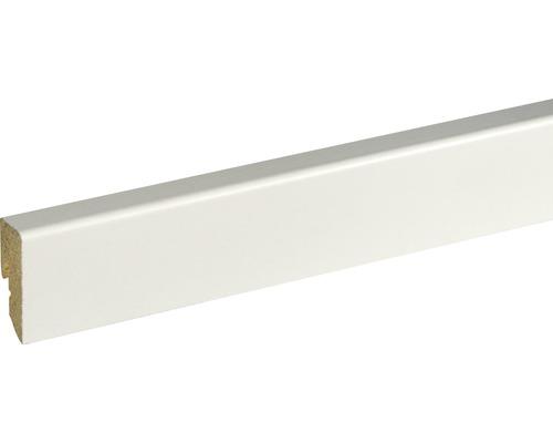 Plinthe SU047L blanc plaxé 16x40x2500mm
