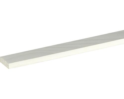 Plat épicéa/pin, blanc laqué 10x29x2400 mm