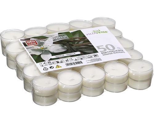 Bougie à chauffe-plat parfum vanille 50 pièces