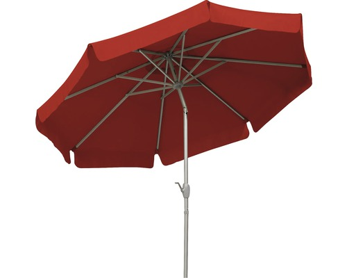 Parasol Schneider Orlando Ø 270 H 250 cm polyester 180 g/m² rouge