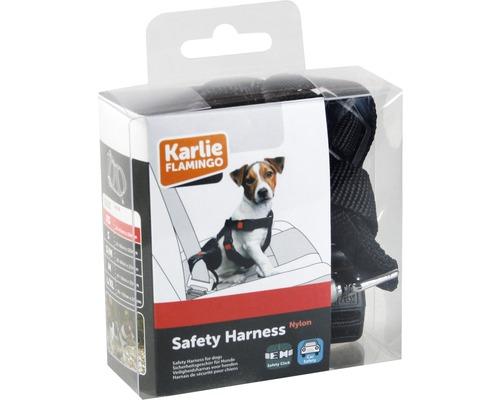 Harnais de sécurité pour voiture Karlie Taille M 20 mm 40-60 cm, noir