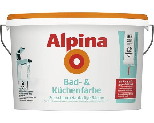 Peinture pour salle de bains et cuisine Alpina blanche 5 L