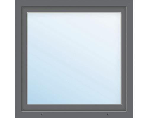 Fenêtre en PVC ARON Basic blanc/anthracite 1000x1000 mm tirant gauche