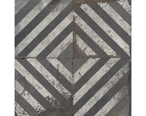 Carrelages décoratifs en grès cérame fin Metropolitan B anthracite 60x60cm