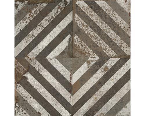 Carrelage décoratif en grès cérame fin Metropolitan B marron 60x60cm