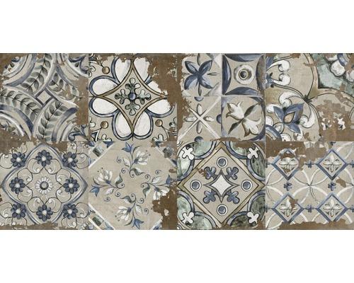 Carrelage décoratif en grès cérame fin Metropolitan S marron 30x60 cm mélange