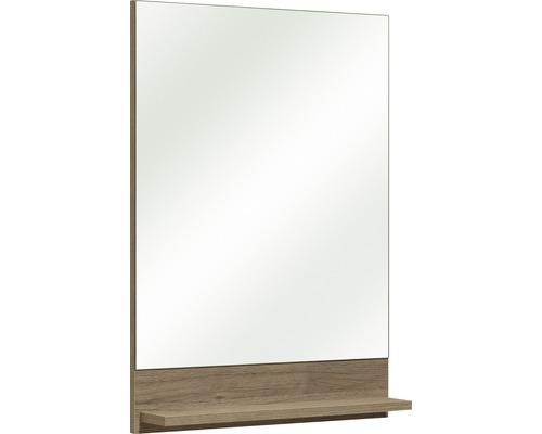 Spiegel mit Ablage pelipal Offenbach Sanremo Eiche 70x50 cm ohne Leuchte