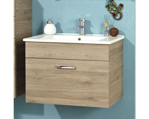 Kit de meubles de salle de bains Pelipal Offenbach chêne Sanremo 53x74 cm