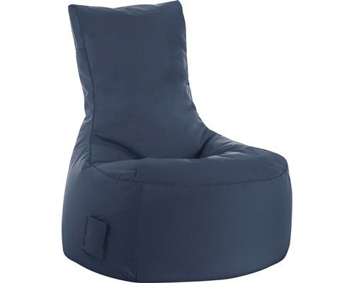 Pouf coussin Sitting Point siège Swing Scuba bleu jeans 95x65x90 cm
