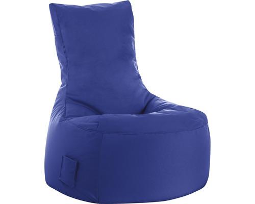 Pouf coussin Sitting Point siège Swing Scuba bleu foncé 95x65x90 cm