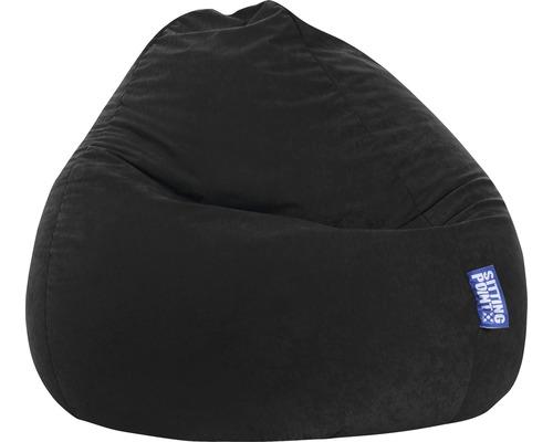 Pouf coussin Sitting Point Beanbag Easy L noir 70x90 cm