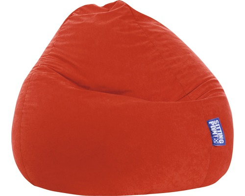 Pouf coussin Sitting Point Beanbag Easy L rouge 70x90 cm