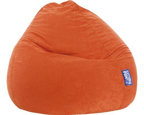 Pouf coussin Sitting Point Beanbag Easy L orange 70x90 cm