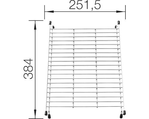 Grille pour bac 38,4 x 25,1 cm 234795 chrome