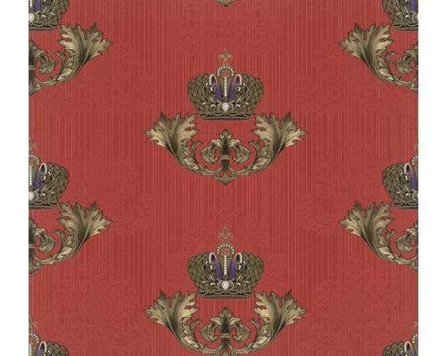 Papier peint intissé 54856 Glööckler Imperial Couronne rouge