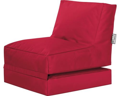 Pouf coussin Sitting Point Twist Scuba rouge 70x80x90 cm