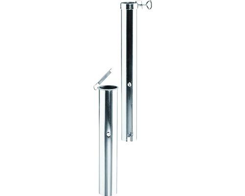Douille au sol pour parasol jusqu''à Ø400cm et tige jusqu''à Ø5,5cm aluminium