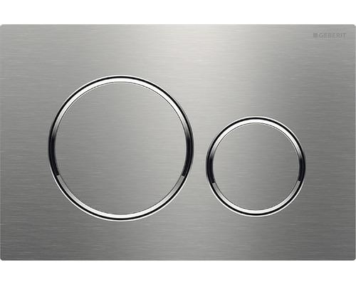 Plaque de commande GEBERIT Sigma 20 acier inoxydable brossé/poli/brossé/115.882.SN.1