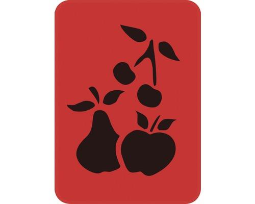 Pochoir fruits 14,5 x 20,5 cm