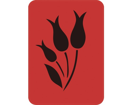 Pochoir tulipes pleines 14,5 x 20,5 cm