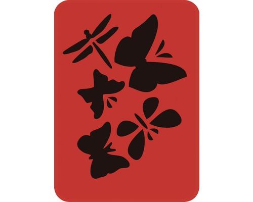 Pochoir libellule et papillon 14,5 x 20,5 cm