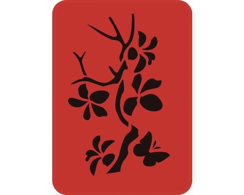 Pochoir branche avec papillon 14,5 x 20,5 cm