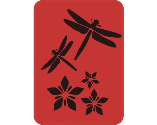 Pochoir libellules 14,5 x 20,5 cm