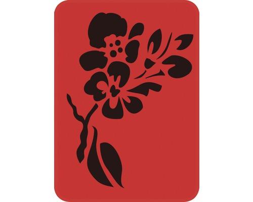 Pochoir branche avec fleur 14,5 x 20,5 cm