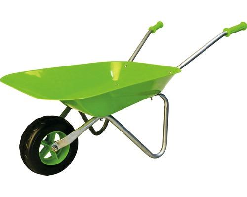 Ensemble de jardinage pour enfant avec brouette, pulvérisateur, pelle, pelle carrée et râteau vert
