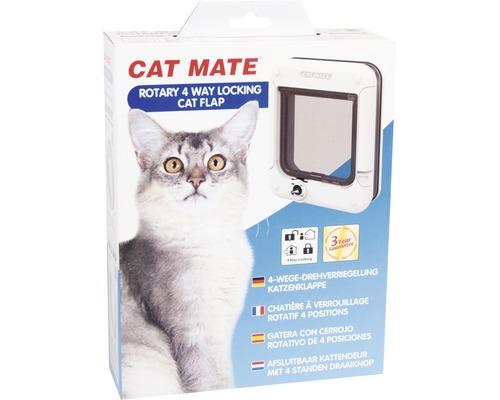 Chatière Cat Mate 4-voies verrouillable blanche