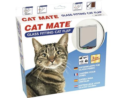 Chatière Cat Mate 4-voies porte vitrée blanche