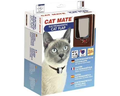 Chatière Cat Mate électromagnétique 168 x 219 mm, marron