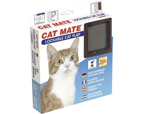 Chatière Cat Mate verrouillable sans tunnel profondeur d''encastrement jusqu''à 13 mm165 x 174 mm marron