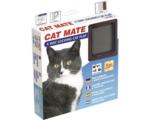 Chatière Cat Mate 4 voies 165 x 174 mm, marron